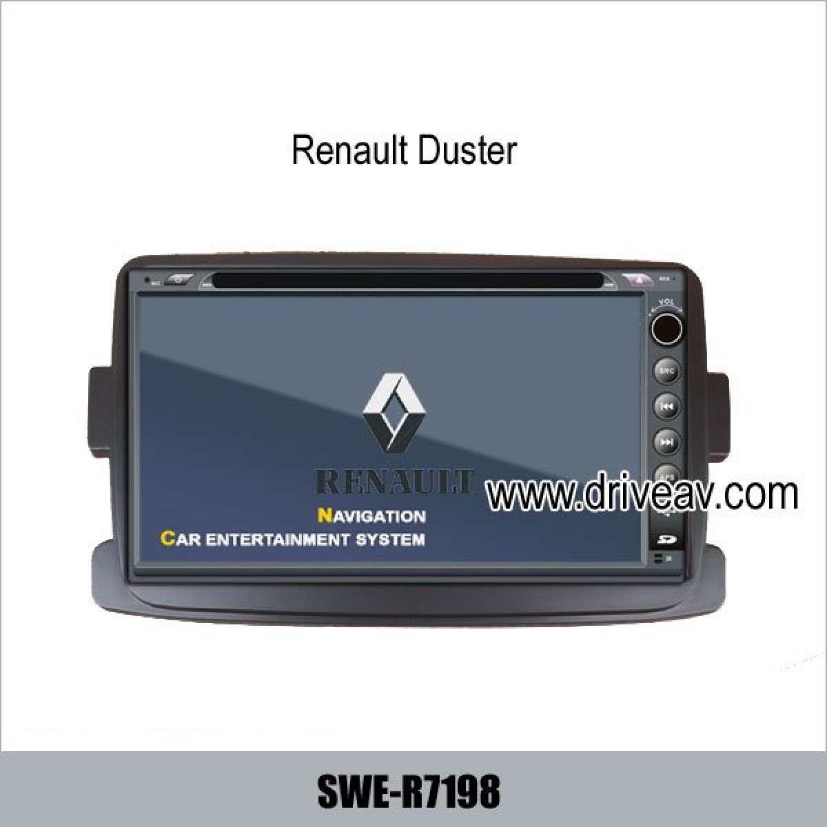 renault duster stereo radio car dvd player gps navigation tv bluetooth. Black Bedroom Furniture Sets. Home Design Ideas